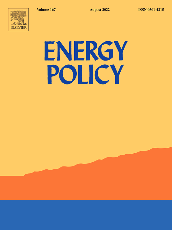 Go to journal home page - Energy Policy