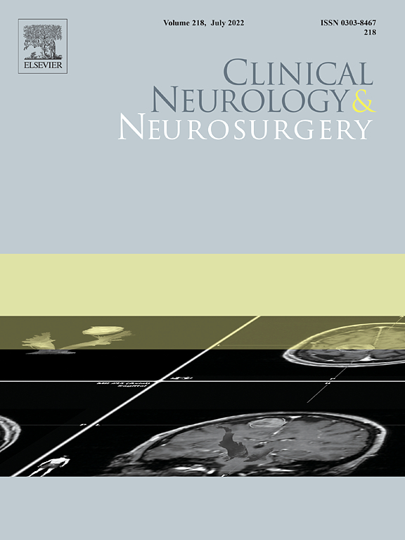 Go to journal home page - Clinical Neurology and Neurosurgery