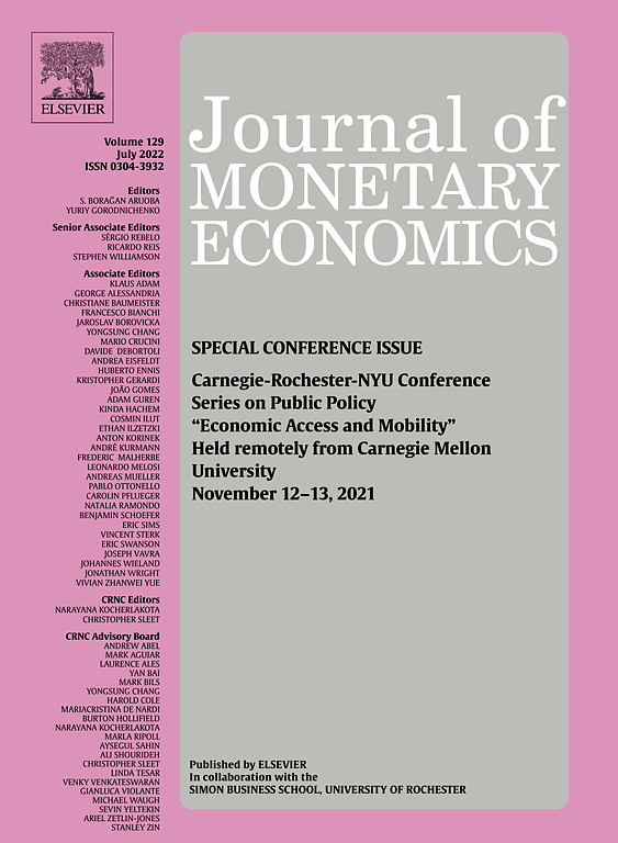 Journal Of Monetary Economics Elsevier