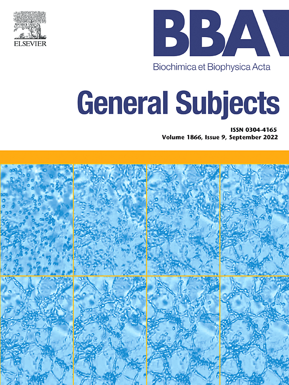 Cover image Biochimica et Biophysica Acta (BBA) - General Subjects
