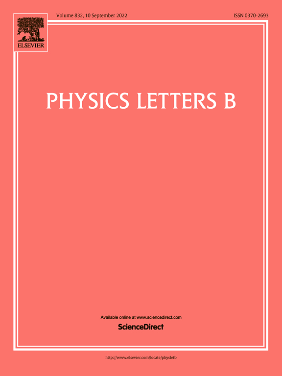 Physics Letters B Journal
