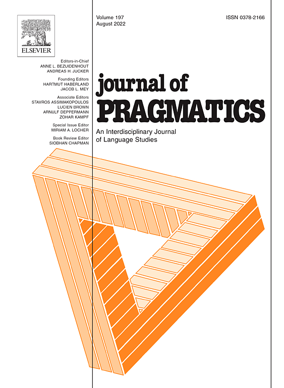Journal of Pragmatics | ScienceDirect com