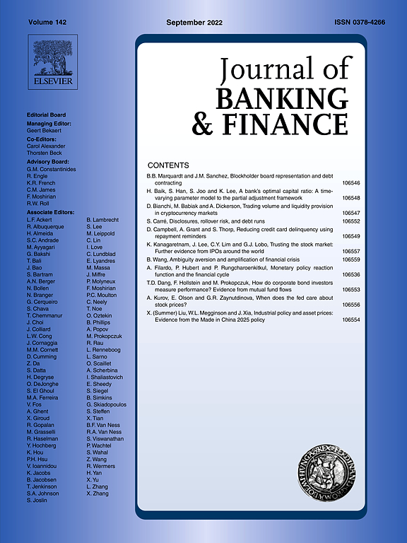 Cover, Journal of Banking and Finance