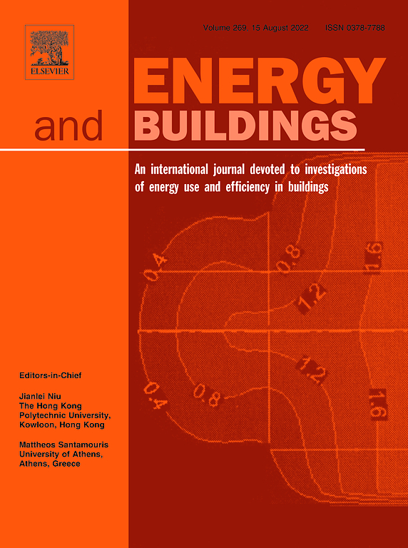 Cover image Energy and Buildings