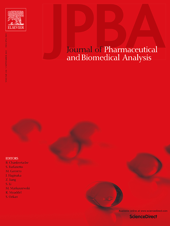Start your review of [JOURNAL OF PHARMACEUTICAL AND BIOMEDICAL ANALYSIS]: