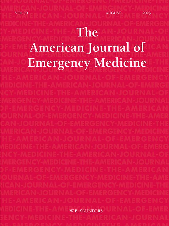 The American Journal of Emergency Medicine   ScienceDirect com