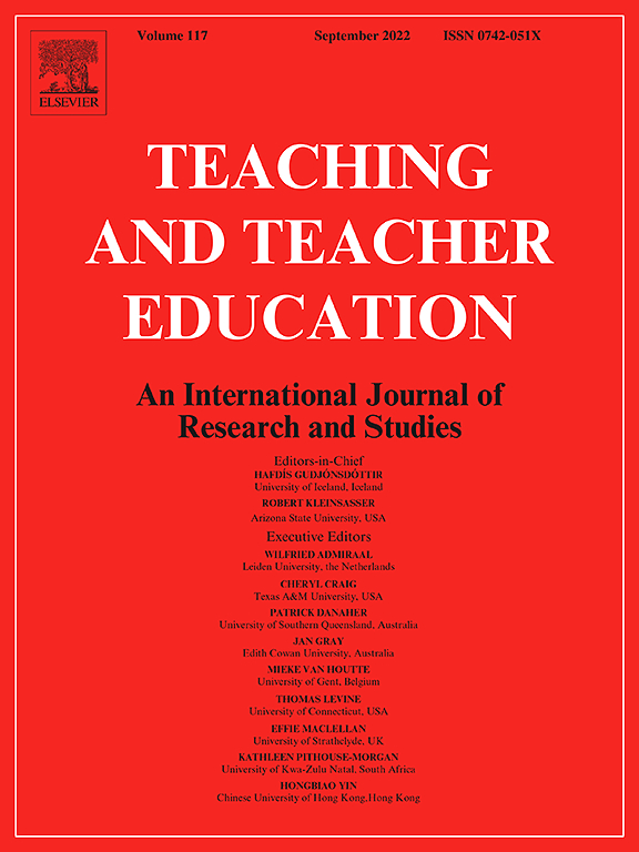 Cover image Teaching and Teacher Education