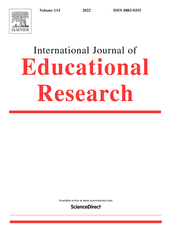 Education Research Highlights From 2015 >> International Journal Of Educational Research