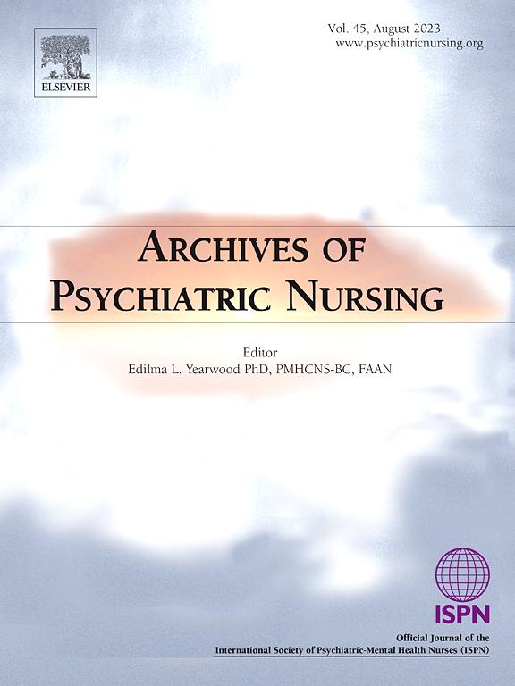 Archives Of Psychiatric Nursing Sciencedirectcom