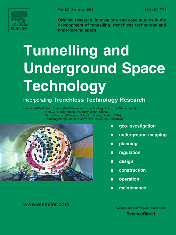 Go to journal home page - Tunnelling and Underground Space Technology