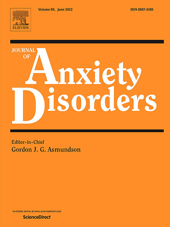 Journal Of Anxiety Disorders Elsevier