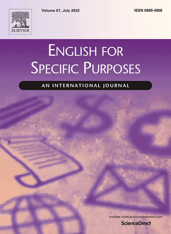 English for Specific Purposes - Journal - Elsevier