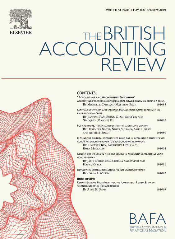 Cover image The British Accounting Review