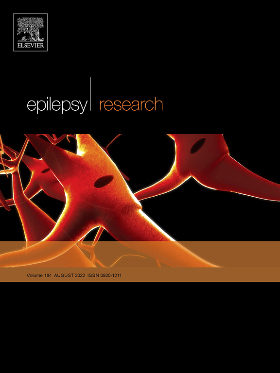 Cover image Epilepsy Research