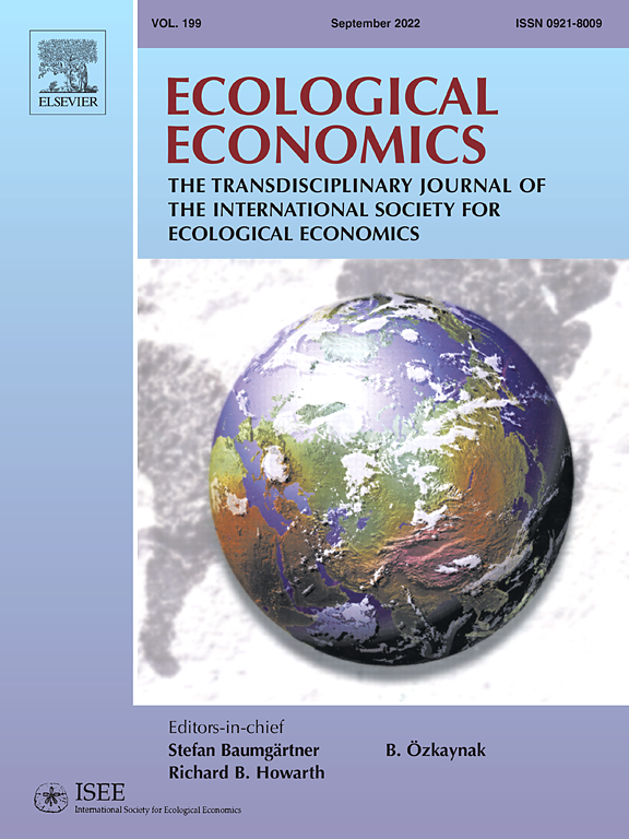 Cover image Ecological Economics
