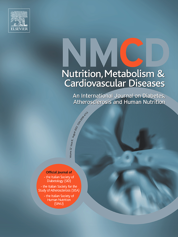 Cover image Nutrition, Metabolism and Cardiovascular Diseases
