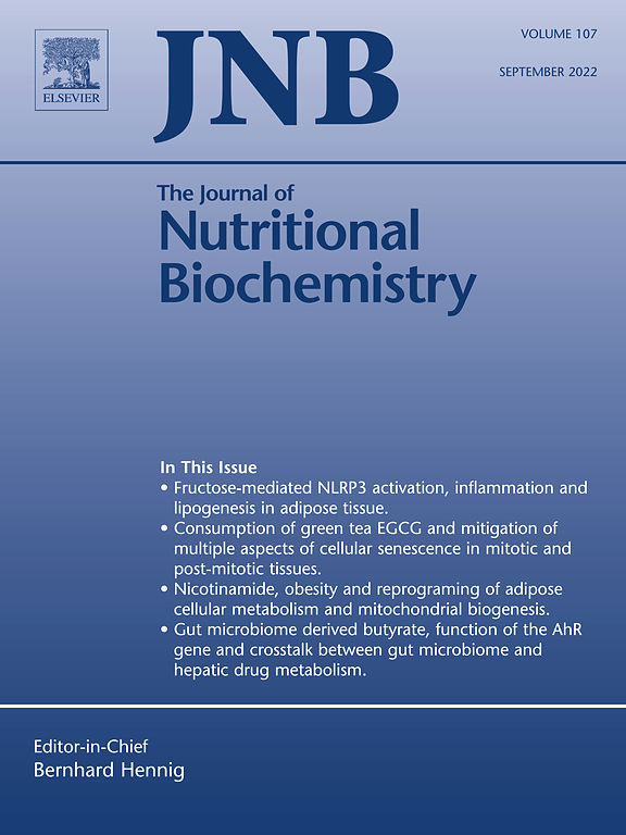 the journal of nutritional biochemistry sciencedirect com cover image the journal of nutritional biochemistry
