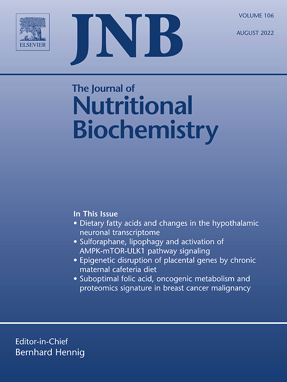 the journal of nutritional biochemistry com cover image the journal of nutritional biochemistry