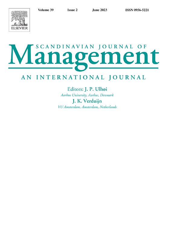 Scandinavian Journal Of Management Elsevier
