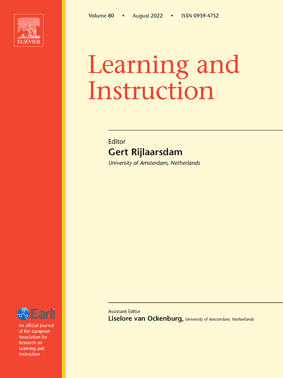 Cover image Learning and Instruction