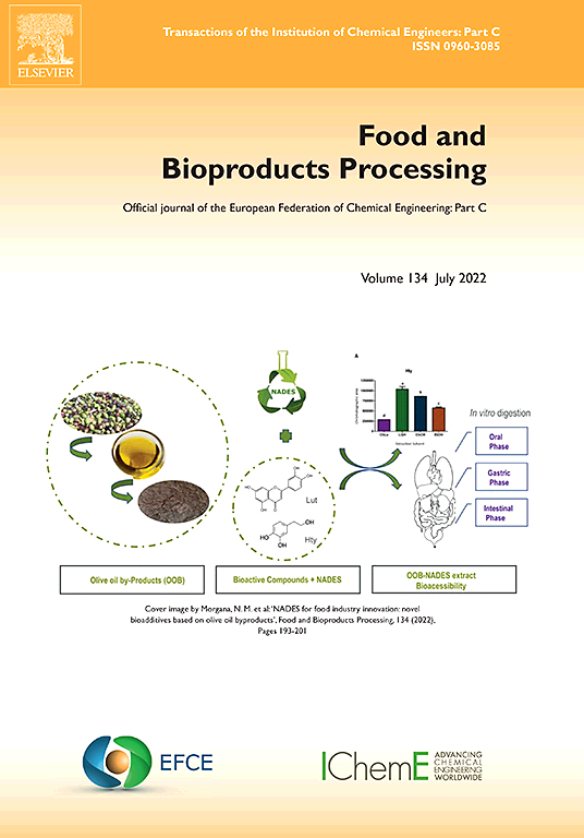 Food And Bioproducts Processing Journal Elsevier