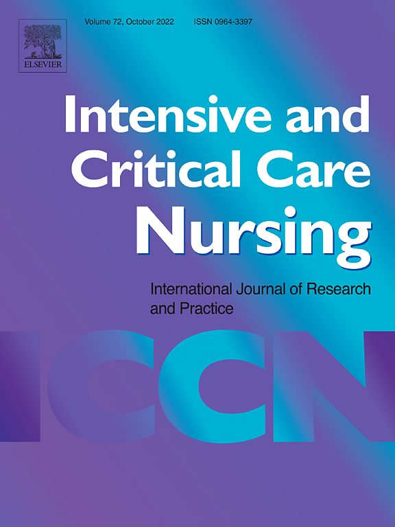 Cover image Intensive and Critical Care Nursing