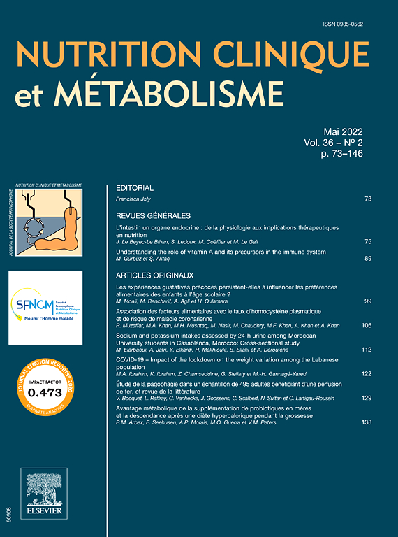 NUTRITION CLINIQUE ET METABOLISME