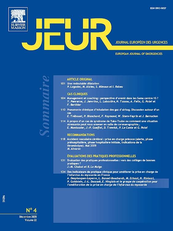 JOURNAL EUROPEEN DES URGENCES