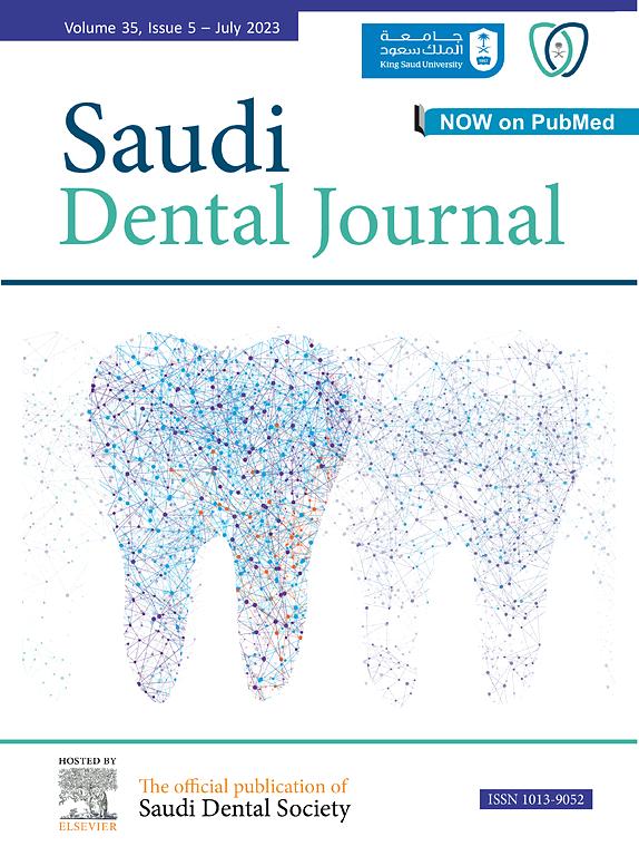 Cover image The Saudi Dental Journal