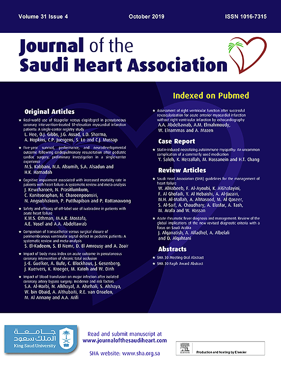Journal of the Saudi Heart Association | ScienceDirect com