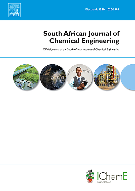 South African Journal Of Chemical Engineering Elsevier