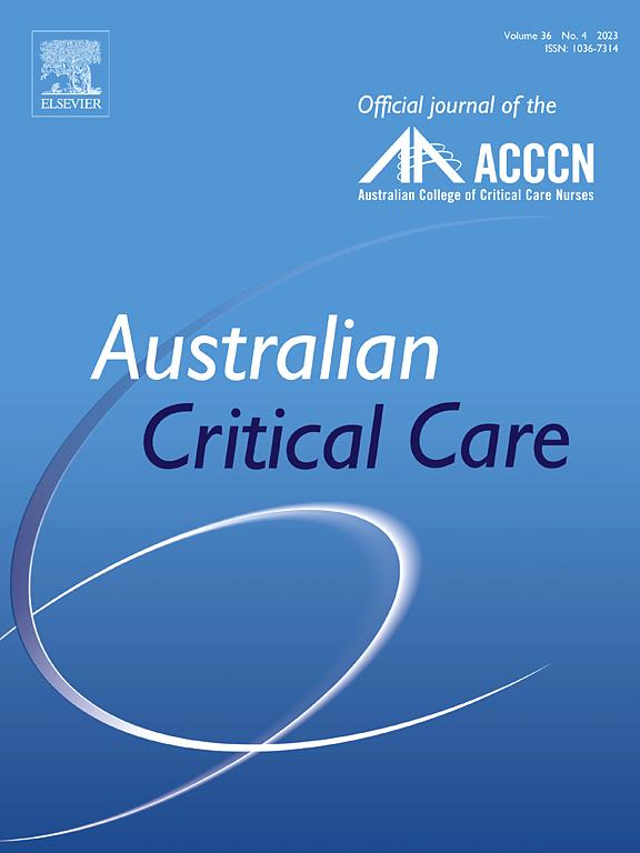 Australian Critical Care | Journal | ScienceDirect com