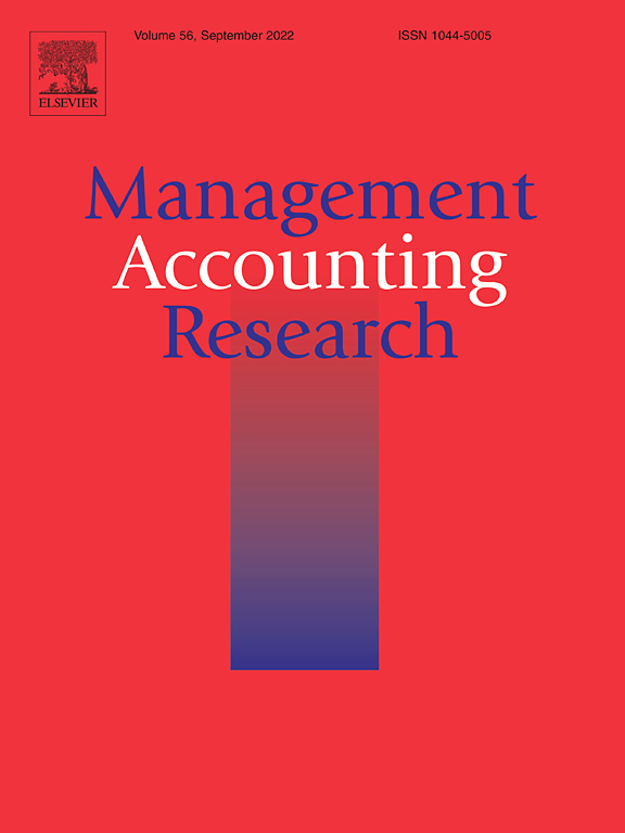 Management Accounting Research Journal Elsevier