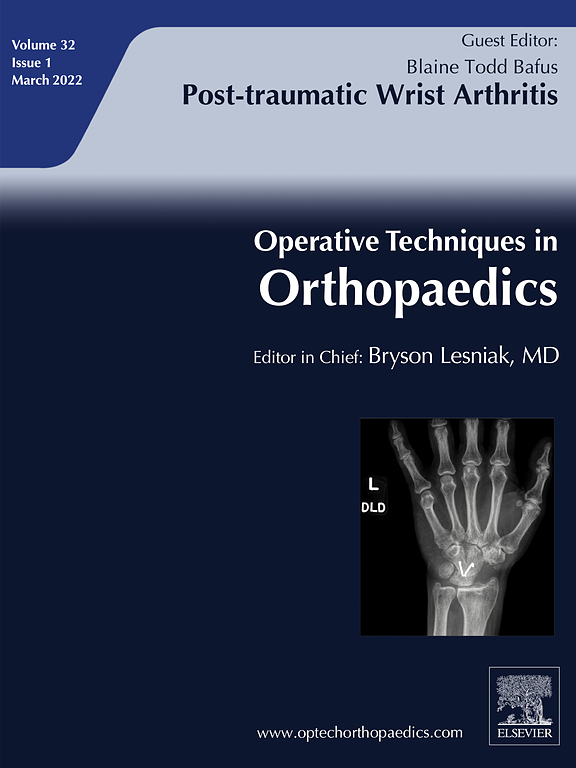 Cover image Operative Techniques in Orthopaedics