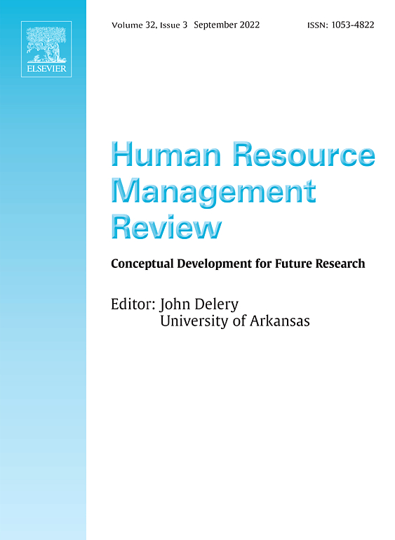 Human Resource Management Review Journal Sciencedirect Com By Elsevier