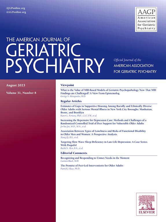 The American Journal of Geriatric Psychiatry | ScienceDirect com