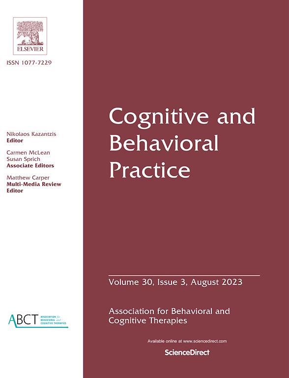 Cognitive and Behavioral Practice   Journal   ScienceDirect com