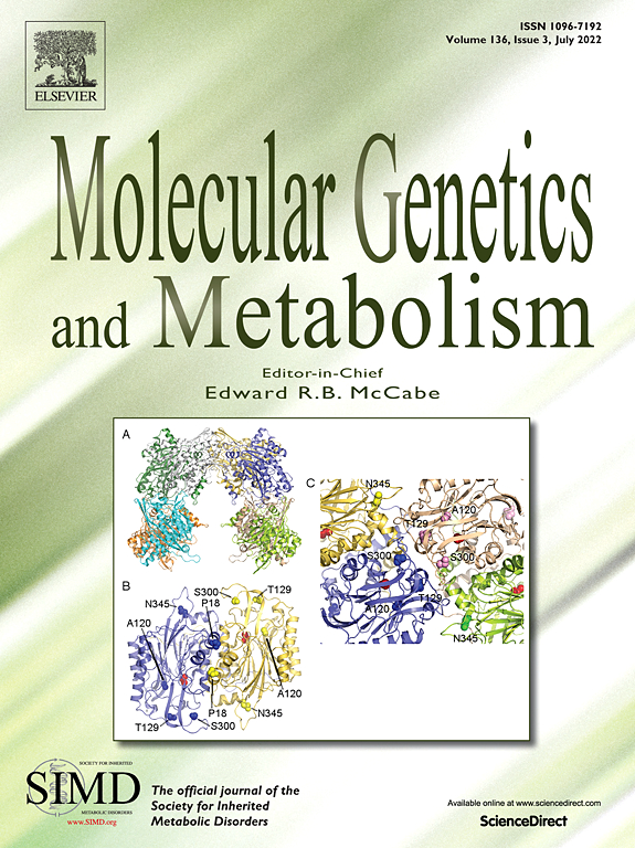 Картинки по запросу journal  Molecular Genetics and Metabolism