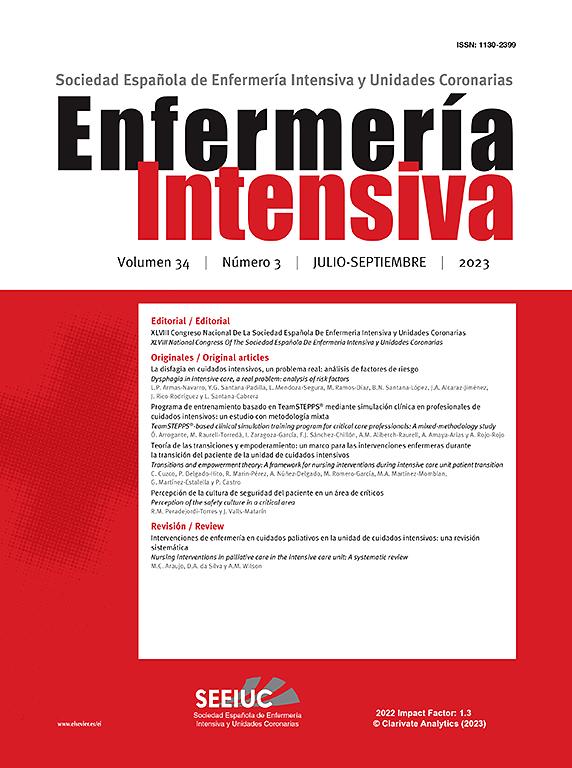 Enfermería Intensiva | ScienceDirect.com