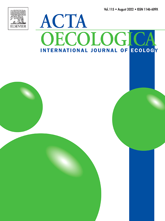 Cover image Acta Oecologica
