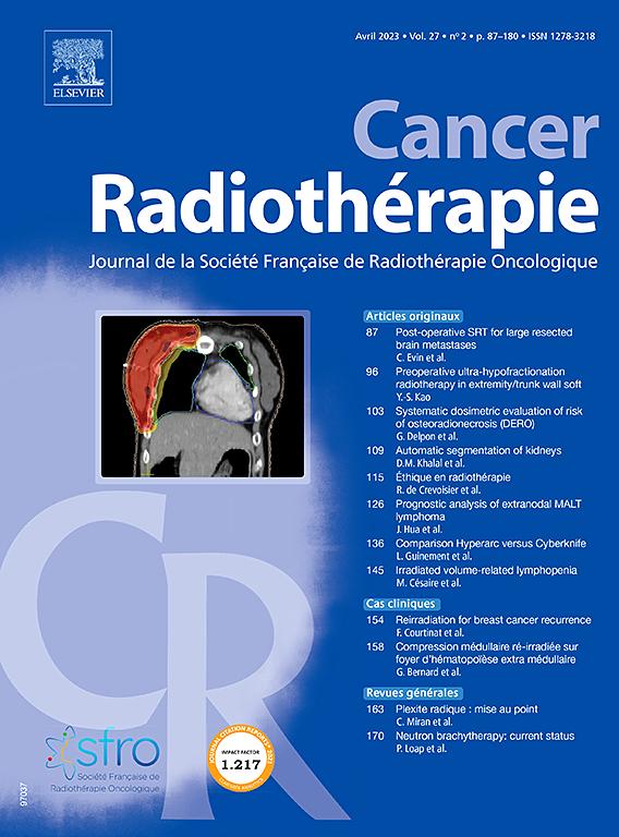 CANCER / RADIOTHERAPIE