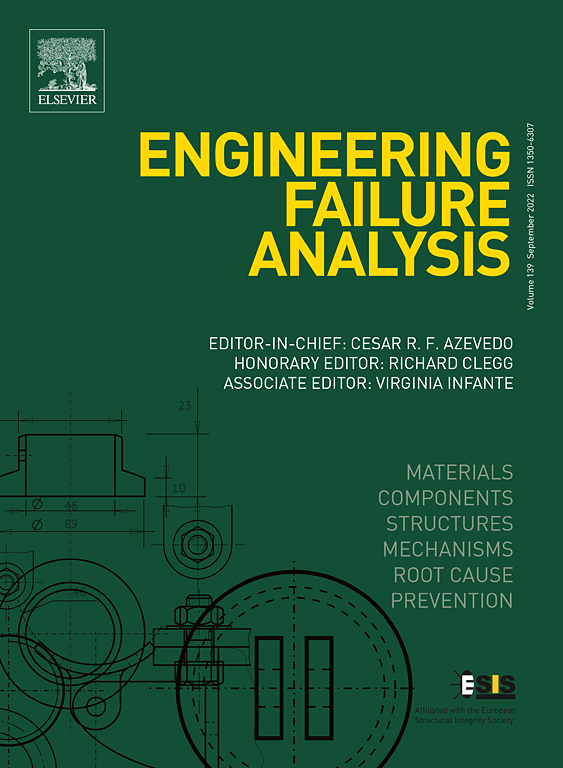 Cover image Engineering Failure Analysis