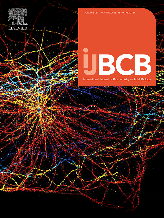 the international journal of biochemistry cell biology  cover image the international journal of biochemistry cell biology