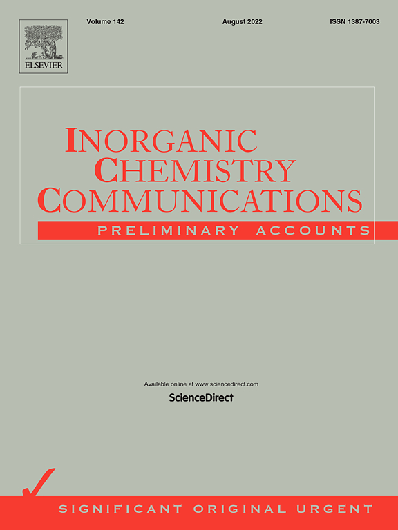 Inorganic Chemistry Communications | ScienceDirect.com