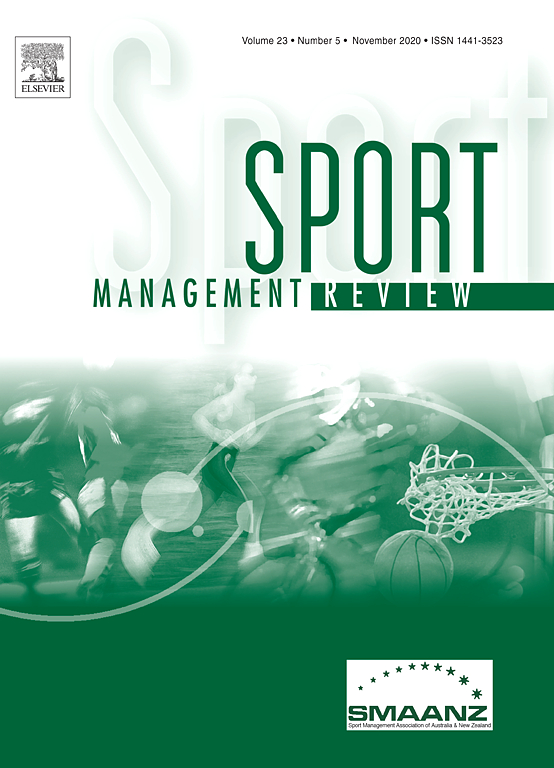 Sport Management Review Sciencedirect