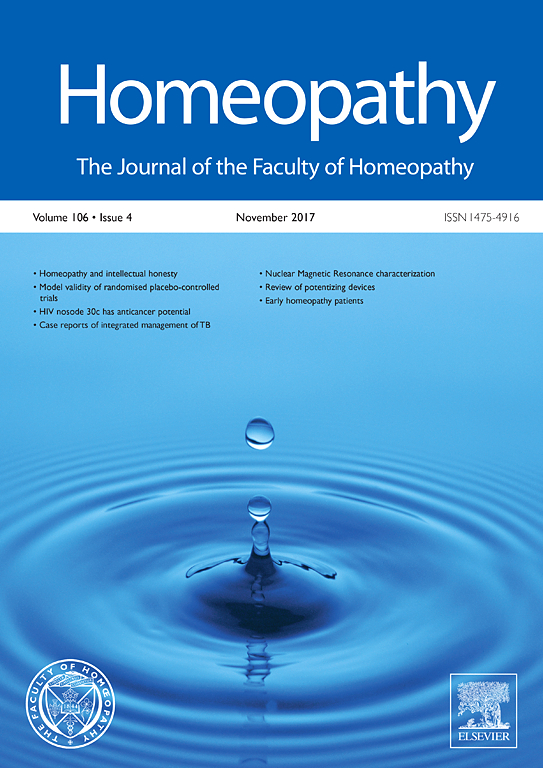 Homeopathy | Vol 95, Issue 1, Pages 1-64 (January 2006