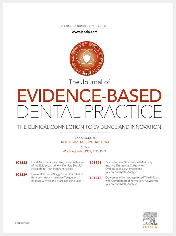 Journal of Evidence Based Dental Practice   ScienceDirect com