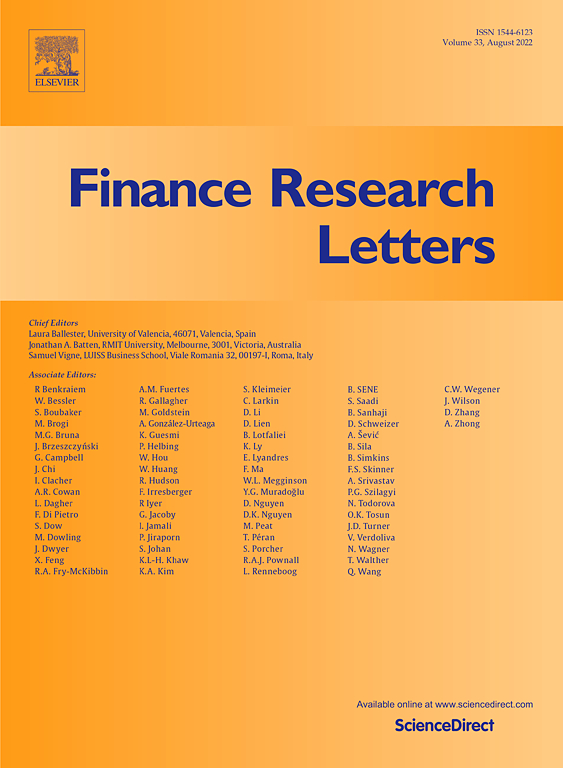 Cover, Finance Research Letters