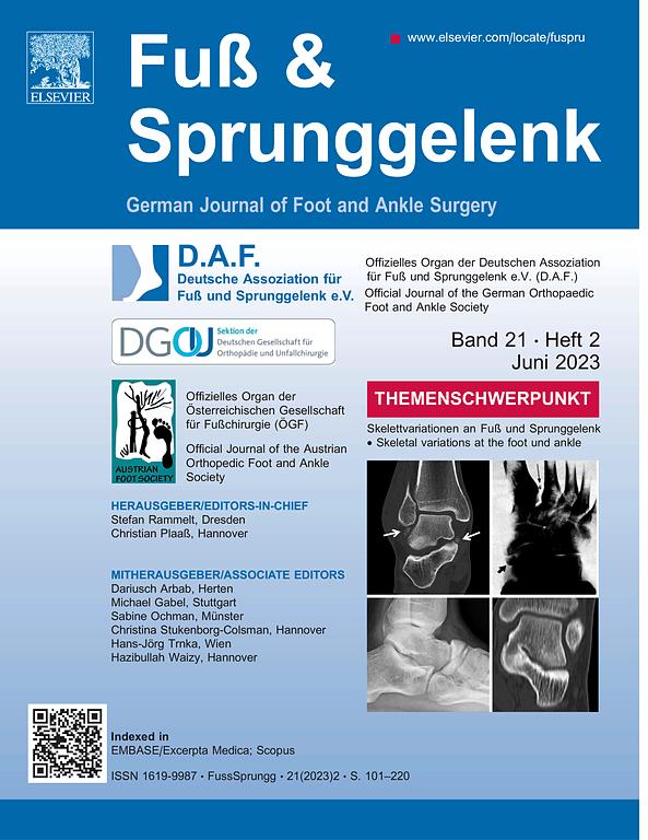 Fuß & Sprunggelenk | ScienceDirect.com