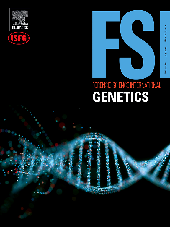 Cover image Forensic Science International: Genetics